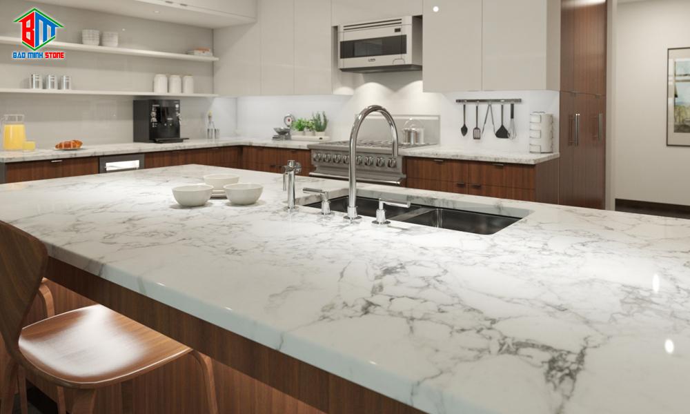 Các loại đá hoa cương thích hợp để ốp bàn bếp