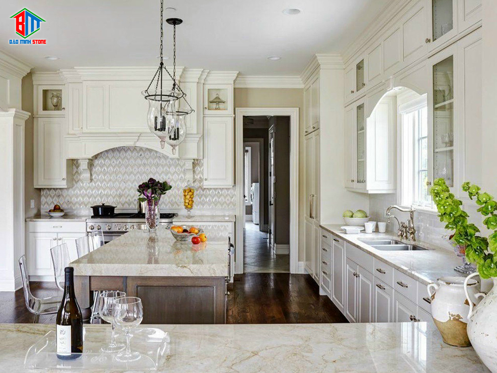 Vì sao nên chọn đá ốp bàn bếp?