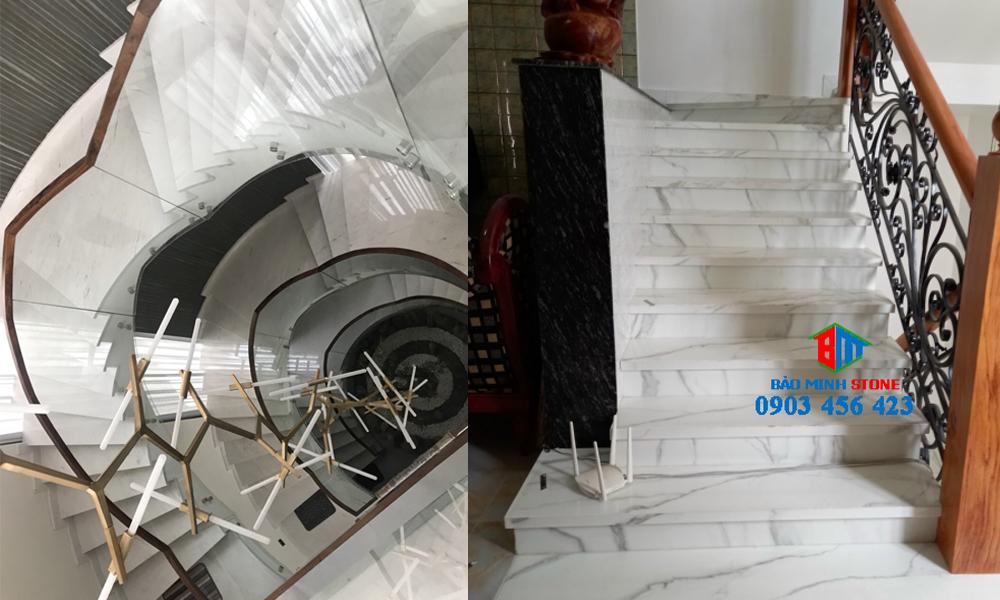 Kinh nghiệm lựa chọn mẫu đá ốp cầu thang chất lượng