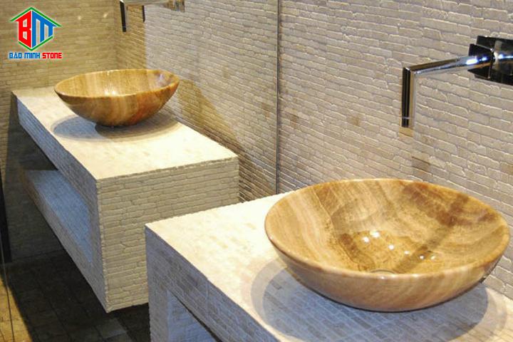 Ưu điểm của đá hoa cương khi dùng ốp lavabo