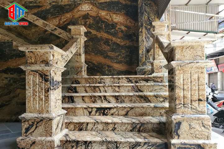 Thi công ốp cột đá hoa cương tại Bảo Minh Stones